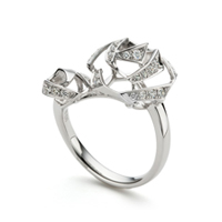 ribbon rose stylish Ring