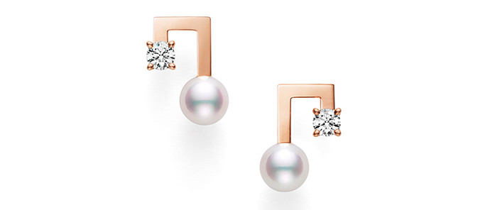 balance note diamond Earrings